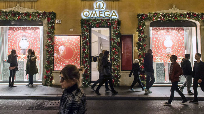 Time, please: Omega's store in Rome