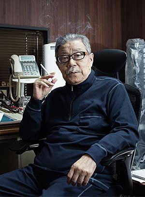 Takao Saito at his studio in Tokyo last month