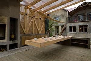 Arbour dining pavilion