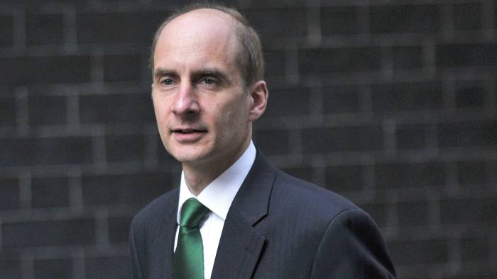 British Secretary of State for Transport Lord Andrew Adonis arrives in Downing Street on April 18, 2010 for an emergency cabinet meeting to discuss the current nationonwide flight cancellations caused by a cloud of dust spewing from an erupting Icelandic volcano. AFP PHOTO/ CARL COURT (Photo credit should read Carl Court/AFP/Getty Images)