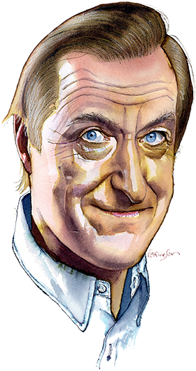 Illustration by James Ferguson of Julian Barnes
