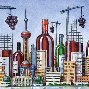 An illustration by Ingram Pinn depicting Chinese wine