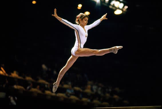 Nadia Comaneci in the 1976 Montreal Olympics