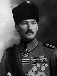 Ataturk. Mustafa Kemal — known as Ataturk or father of the Turks — who forged modern, western-facing Turkey and whose legacy Erdogan aims to supplant