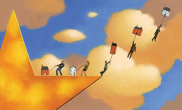 Illustration depicting UK property boom