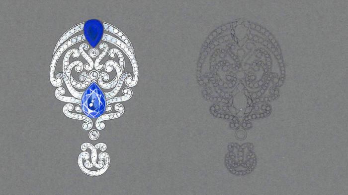 Garrard Iris earrings