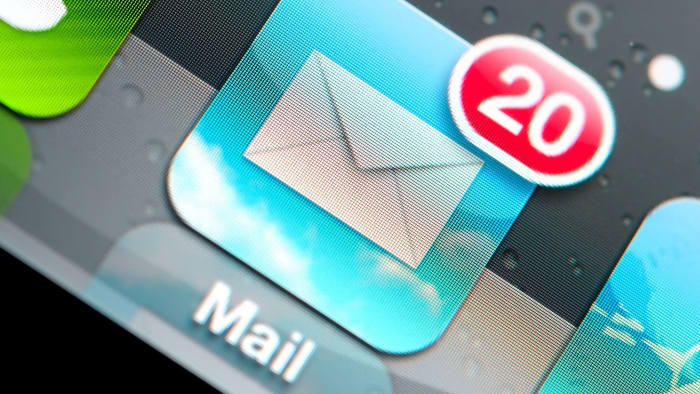 email icon on phone