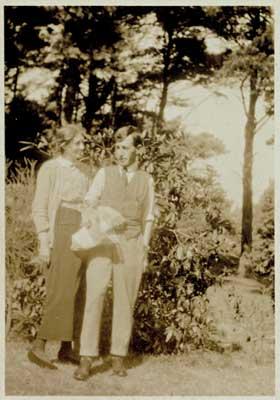 Virginia with husband Leonard