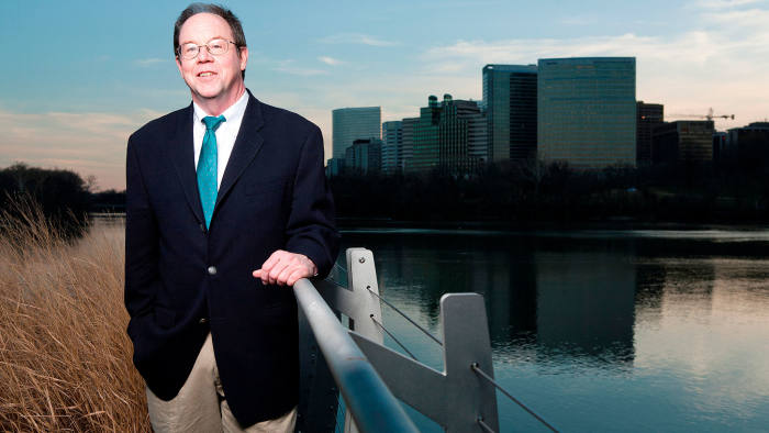 Dr. Dennis Quinn, professor at the McDonough School of Business at Georgetown University poses for a portrait in Washington, DC, on February 3 2012.