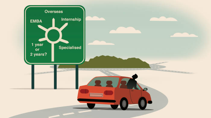 illustration of a man in a car looking at road directions