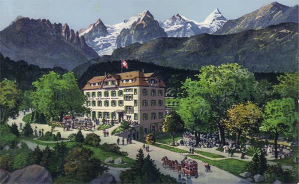 The Hotel Wetterhorn in 1913