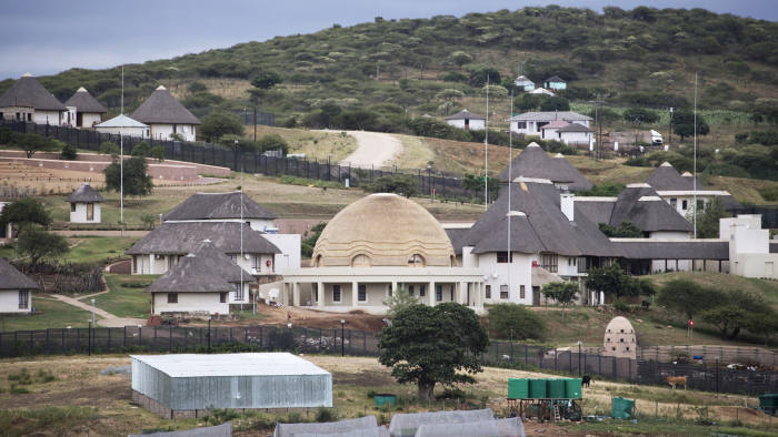 A view of the controversial homestead of South African President Jacob Zuma in Nkandla on January 21, 2014. On January 11 South African police arrested 30 people near President Jacob Zuma's homestead in Nkandla, after violent clashes with supporters of a newly formed party led by Julius Malema. AFP PHOTO / MARCO LONGARI (Photo credit should read MARCO LONGARI/AFP/Getty Images)