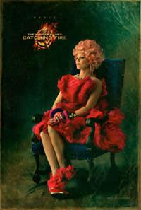 Elizabeth Banks as Effie Trinket in 'The Hunger Games: Catching Fire'