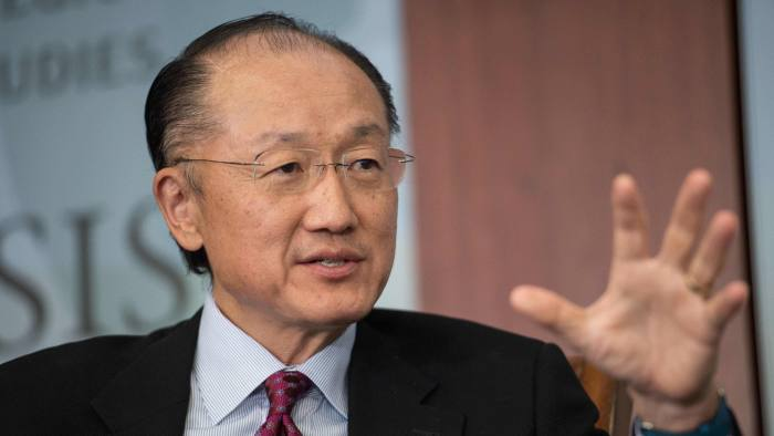 (FILES) This file photo taken on June 1, 2016 shows World Bank president Jim Yong Kim as he speaks during a conversation entitled Preventing The Next Pandemic at the Center for International and Strategic Studies (CSIS) in Washington. World Bank President Jim Yong Kim effectively won a second five-year term after nominations to lead the global development bank closed Wednesday with no other candidates proposed. The World Bank executive board said in a statement that, following official procedures, it would formally meet with Kim as a candidate