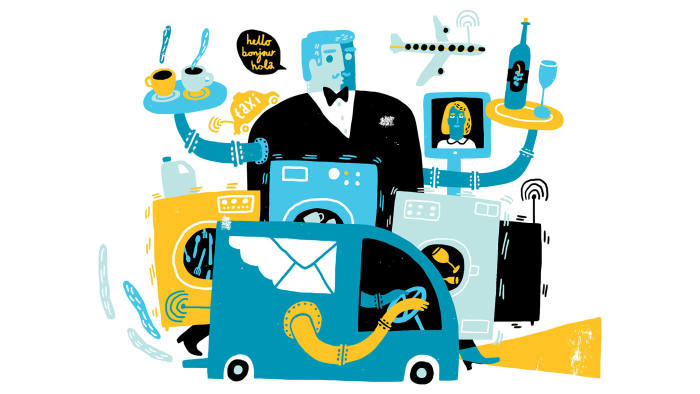 cover image for The Connected Business April 2016 special report. Illustration by Øivind Hovland