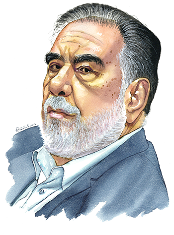 Francis Ford Coppola Lunch with the FT illustration by James Ferguson