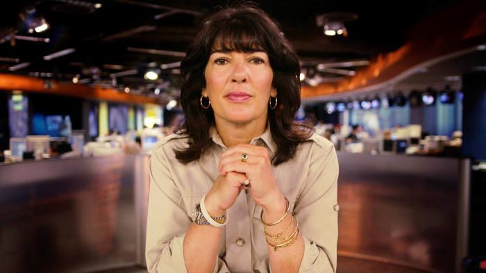 Christiane Amanpour at CNN's London studio, 2006