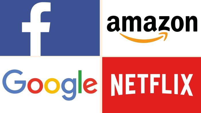 US companies with Fangs: Facebook, Amazon, Netflix and Google