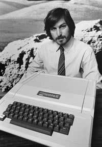 Steve Jobs with the Apple II