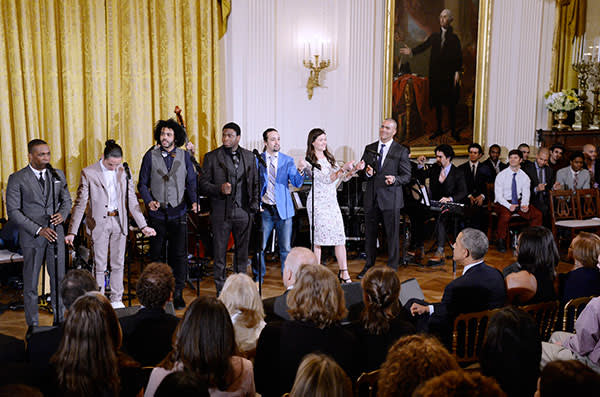 Cast members from 'Hamilton' perform at the White House this year