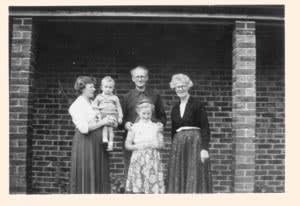 Ewan Clayton with his family