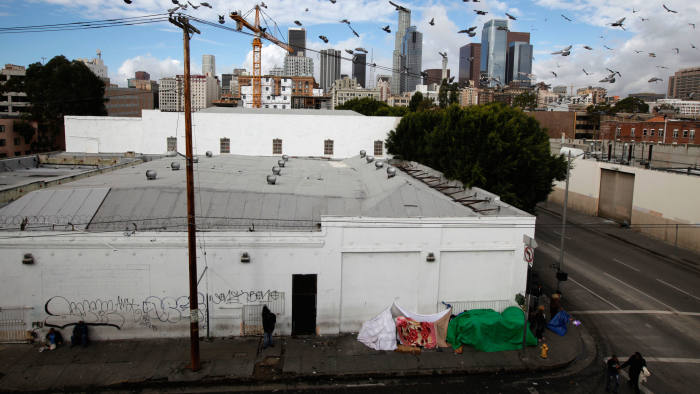 Skid Row Housing Trust's apartments for the homeless under construction last year in downtown Los Angeles