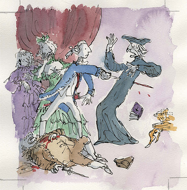 From 'Candide' by Voltaire, illustrated by Quentin Blake (The Folio Society, 2011)