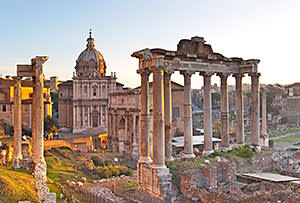 The ancient Roman Forum, a perfect sunset spot after the tourists have left