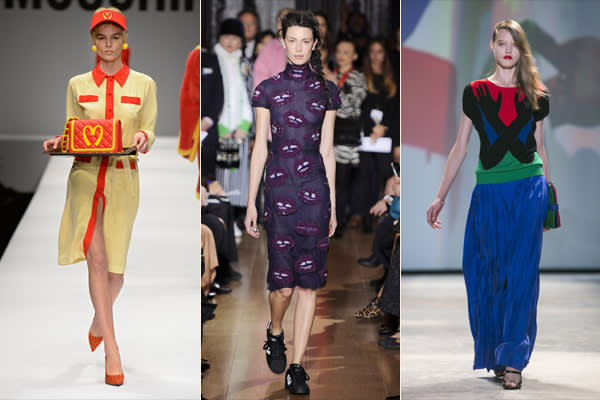 Designs by Moschino, Giles and JC de Castelbajac