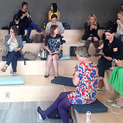 The female tech CEOs in Eventbrite's meeting space