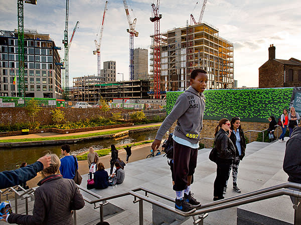 Public space next to Regent's Canal within the King's Cross development, London