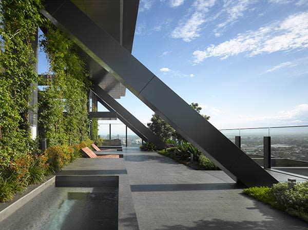 One Central Park's 'Sky Garden', a cantilevered terrace extending from the 29th floor