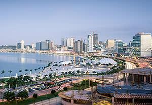 The waterfront in Luanda, Angola