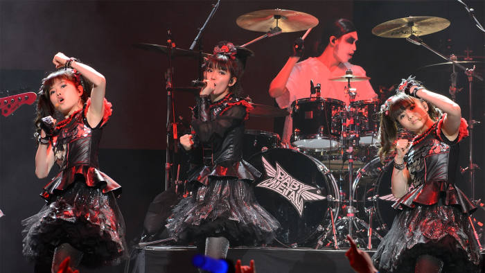 Yuimetal, Su-metal and Moametal of Babymetal perform during the Alternative Press Music Awards 2016 at Jerome Schottenstein Center on July 18, 2016 in Columbus, Ohio.  (Photo by Daniel Boczarski/Getty Images)