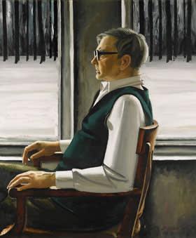 Portrait of Dimitri Shostakovich (1987) by Tair Salakhov