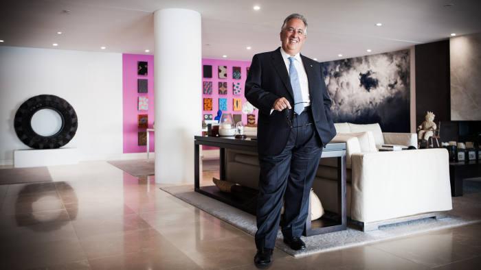 Simon Mordant in his Sydney apartmen