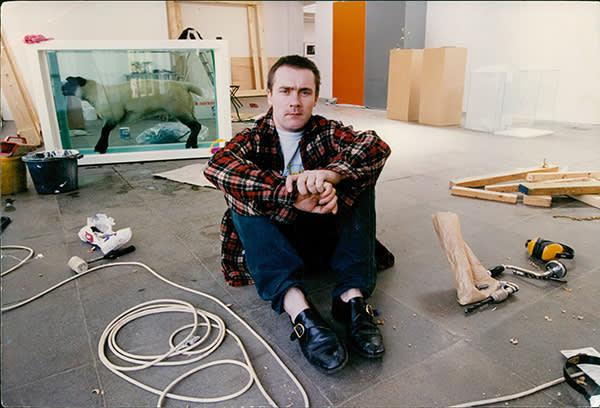 Mandatory Credit: Photo by Ken Towner/Evening Standard/REX/Shutterstock (1046174a) Controversial Artist Damien Hirst In His Studio.  Controversial Artist Damien Hirst In His Studio.