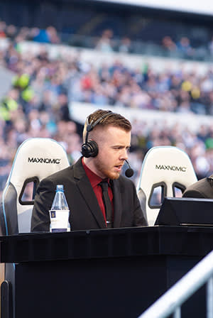Commentator Austin 'Capitalist' Walsh used to be a reservist in the Marines before becoming a 'caster'