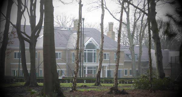 The billionaire's house outside Welwyn Garden City. He says he has no plans to leave the UK, where he is in 'forced exile'