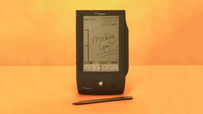 Apple Newton message pad personal digital assistant (PDA). (Photo by Neil Winokur/The LIFE Images Collection/Getty Images)