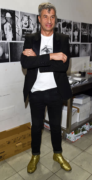 Artist Maurizio Cattelan attends 'SHIT AND DIE' Vernissage at Palazzo Cavour on November 5, 2014 in Turin, Italy