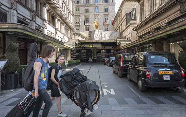 Independent shops are struggling on the Strand, London, to go with Hugo Greenhalgh copy. Pic shows the Savoy.