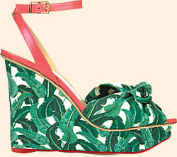 Wedge shoes, Charlotte Olympia for the Beverly Hills Hotel