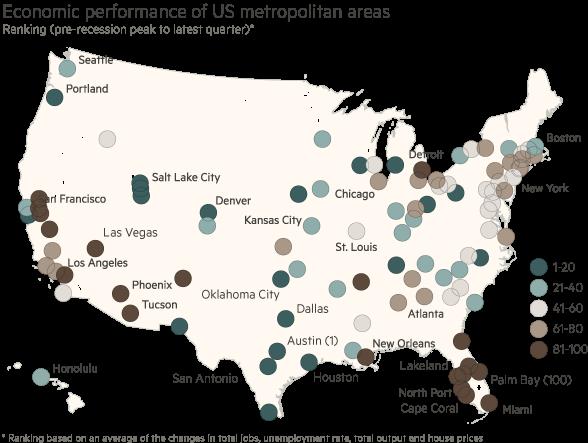 Economic performance of US metropolitan areas