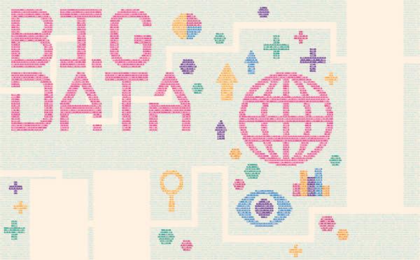 Illustration by Ed Nacional depicting big data
