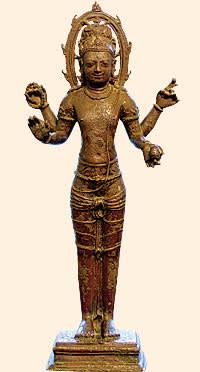 4th-century bronze from eastern India, a statue of Vishnu