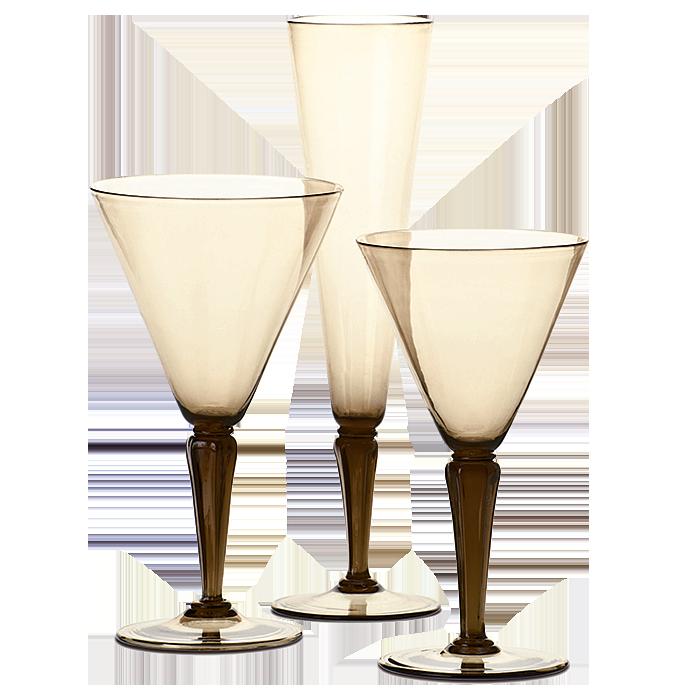 20th century Venetian glasses