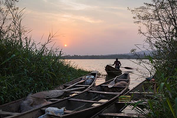 Fisherman on Jabi Lake, Abuja FCT, Nigeria