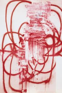 Christopher Wool's untitled silkscreen work