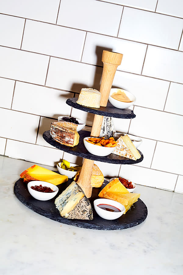 A cheese 'tower' at Murray's